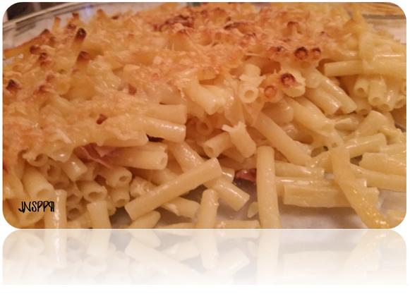 Gratin de macaronis au jambon
