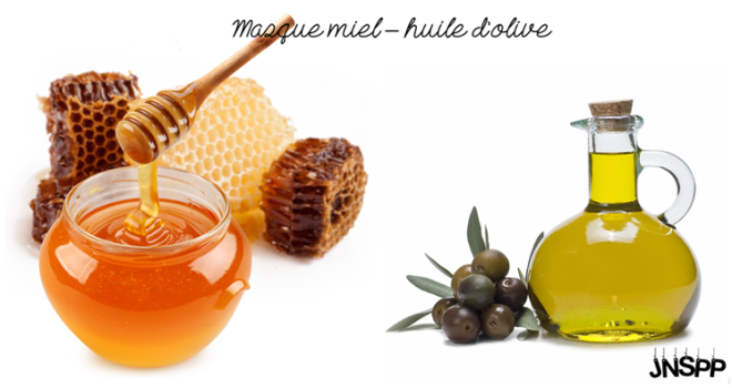 Masque capillaire miel - huile d'olive