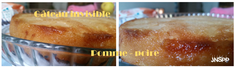 Gâteau invisible pomme-poire